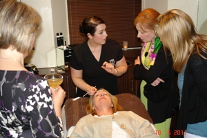 Woman receiving a sample treatment at Zen Lifestyle