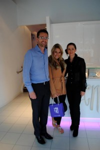 Sam Faiers from The Only Way Is Essex with Kieran and Fiona