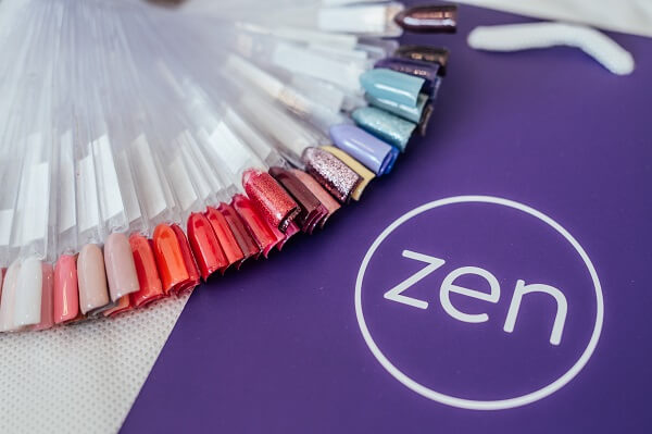 nail colour selection at zen