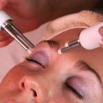 caci being performed on brow area