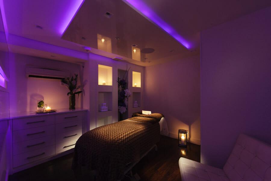 Bruntsfield Salon Treatment Room set up for Massage