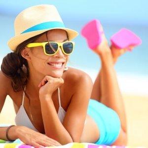 Lady posing on the beach
