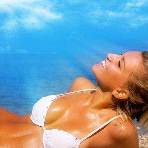 Sun shot with girl in sun