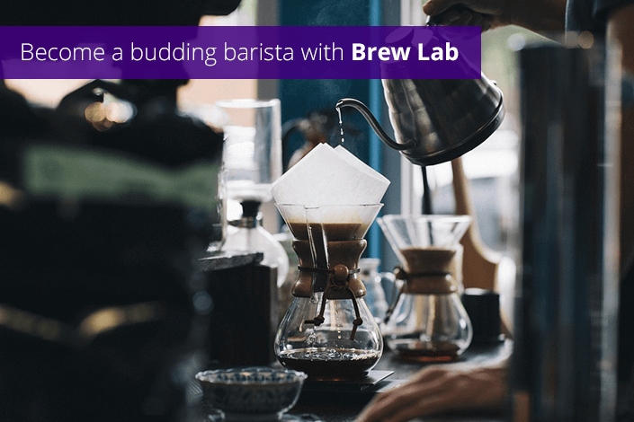 BECOME A BUDDING BARISTA WITH BREW LAB