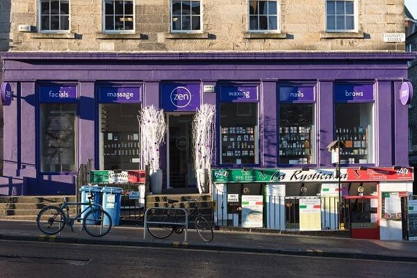 hanover st zen salon shop front