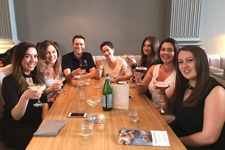 cocktails with beauty therapists