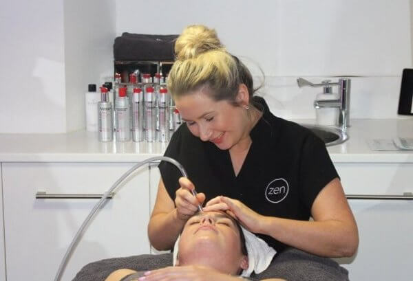 Staff: Jen doing facial