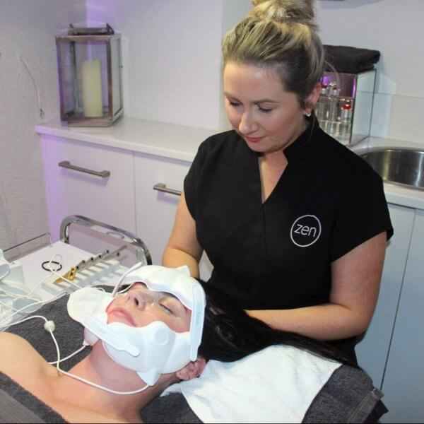 Staff: Jen doing Lightfusion facial