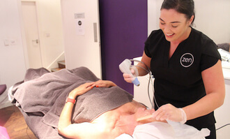 Melissa doing the Exilis facial