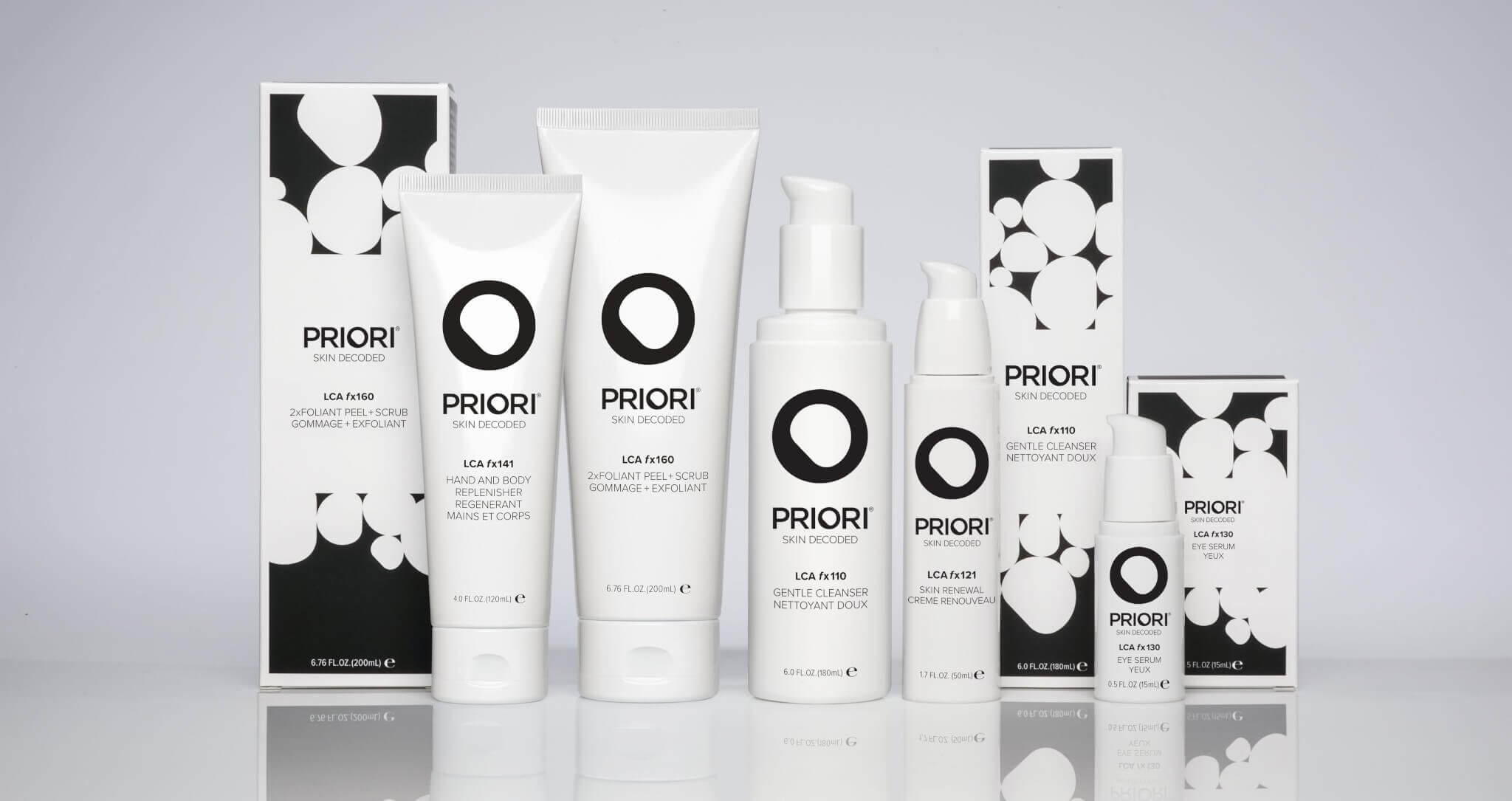 priori range of products