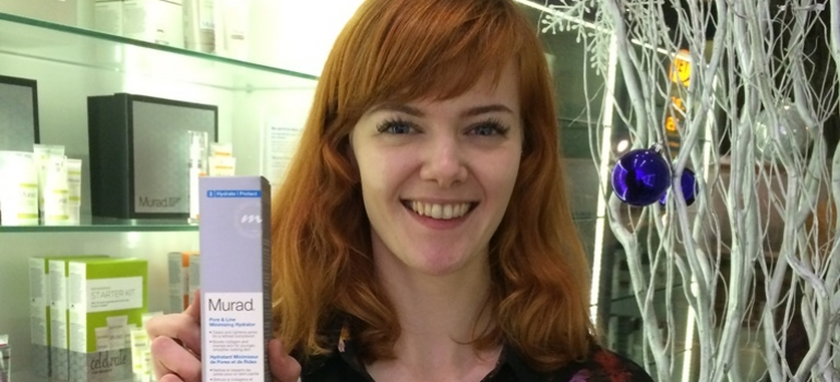 Laura with Murad Pore and Line Hyrdrator