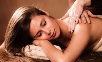 Brunette Girl having a Lime and Ginger Massage