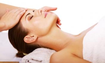 Scalp being massaged
