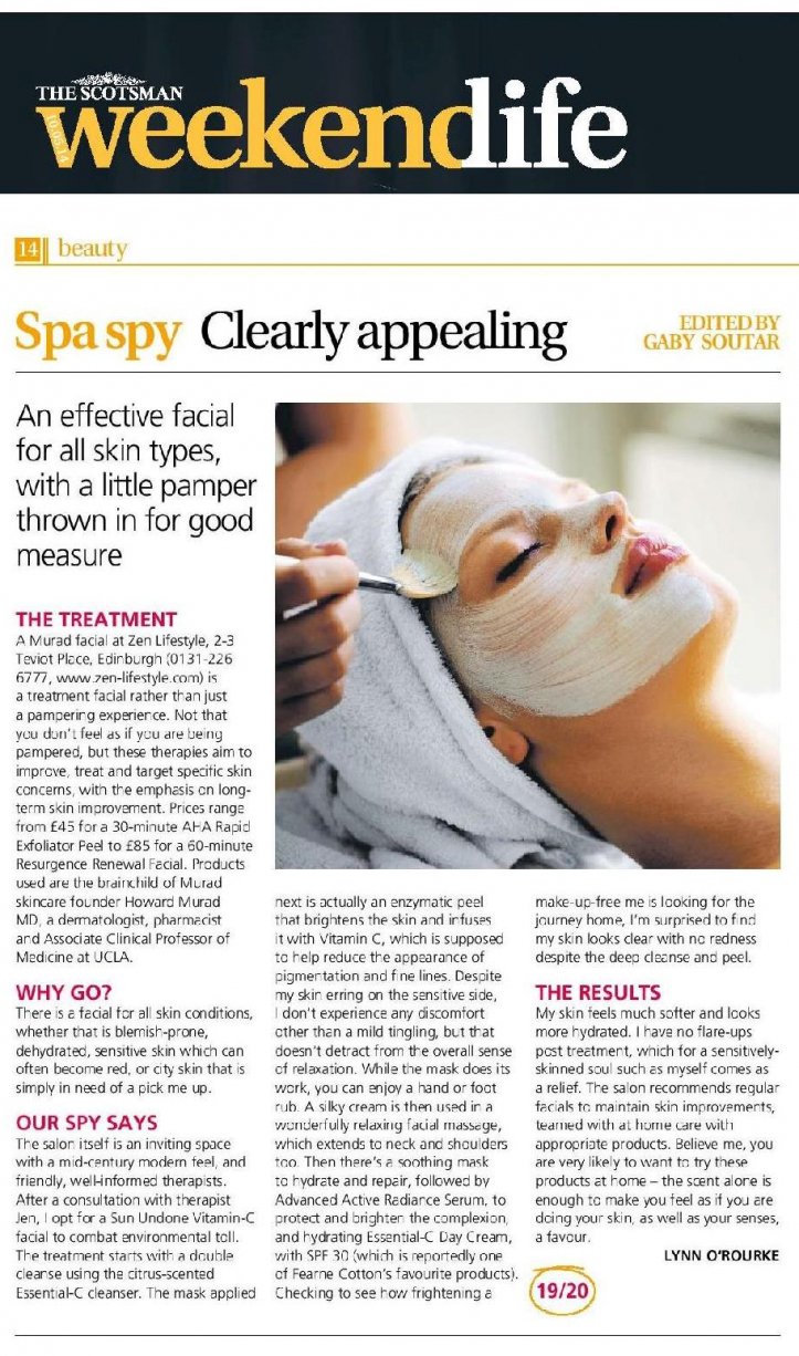 Scotsman Weekend Life: Murad Facial Review