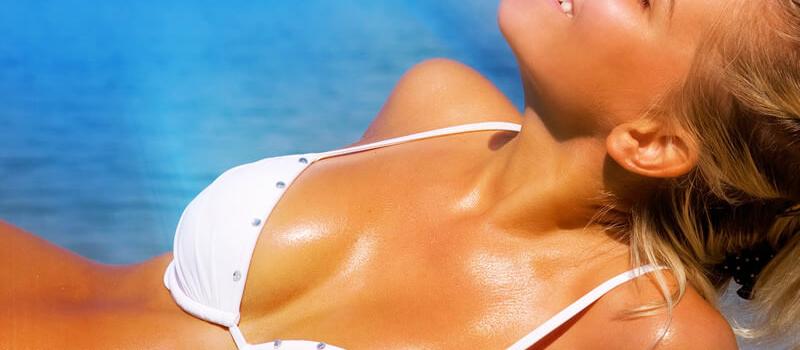 Girl Tanning in the sun