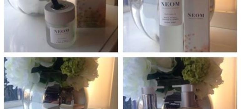 Collage of Neom Product Range