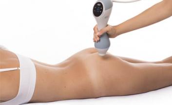BTL unison cellulite treatment client lying on tummy